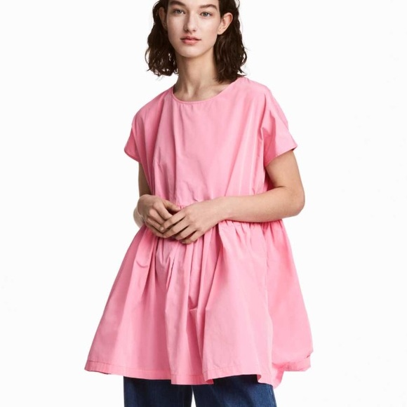 f2fccd7f38 Bubble gum loose fitting babydoll dress